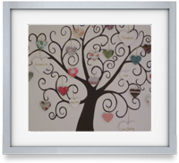 Personalised family tree's. Perfect as a heartfelt gift and homely artwork. Available in 3 sizes. 8x8, 10x10 and 12x12 inches. Smallest is £25. Medium £35 and large £45.