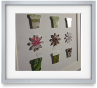 Daisy Pots: A carefully crafted piece of bespoke art perfect for a gift and a lovely addition to any room.